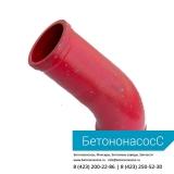Колено бетоновода (DN125, R275, 45 градусов + 170)