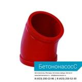 Колено бетоновода (DN100,R175, 45)
